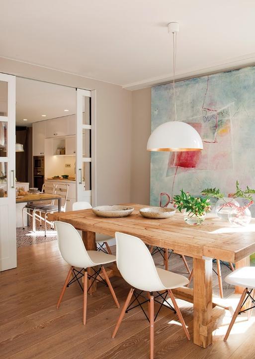 Kuchyna - moja predstava - jedalen in my dreams... eamesy, masivny, ak penazenka da aj teakovy stol a oversized obraz na stenu... absolutne podla mojho gusta :-)