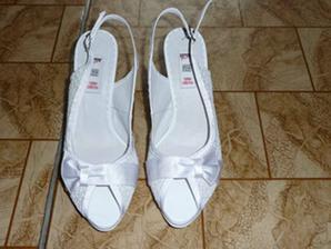 Koupené svatební botičky