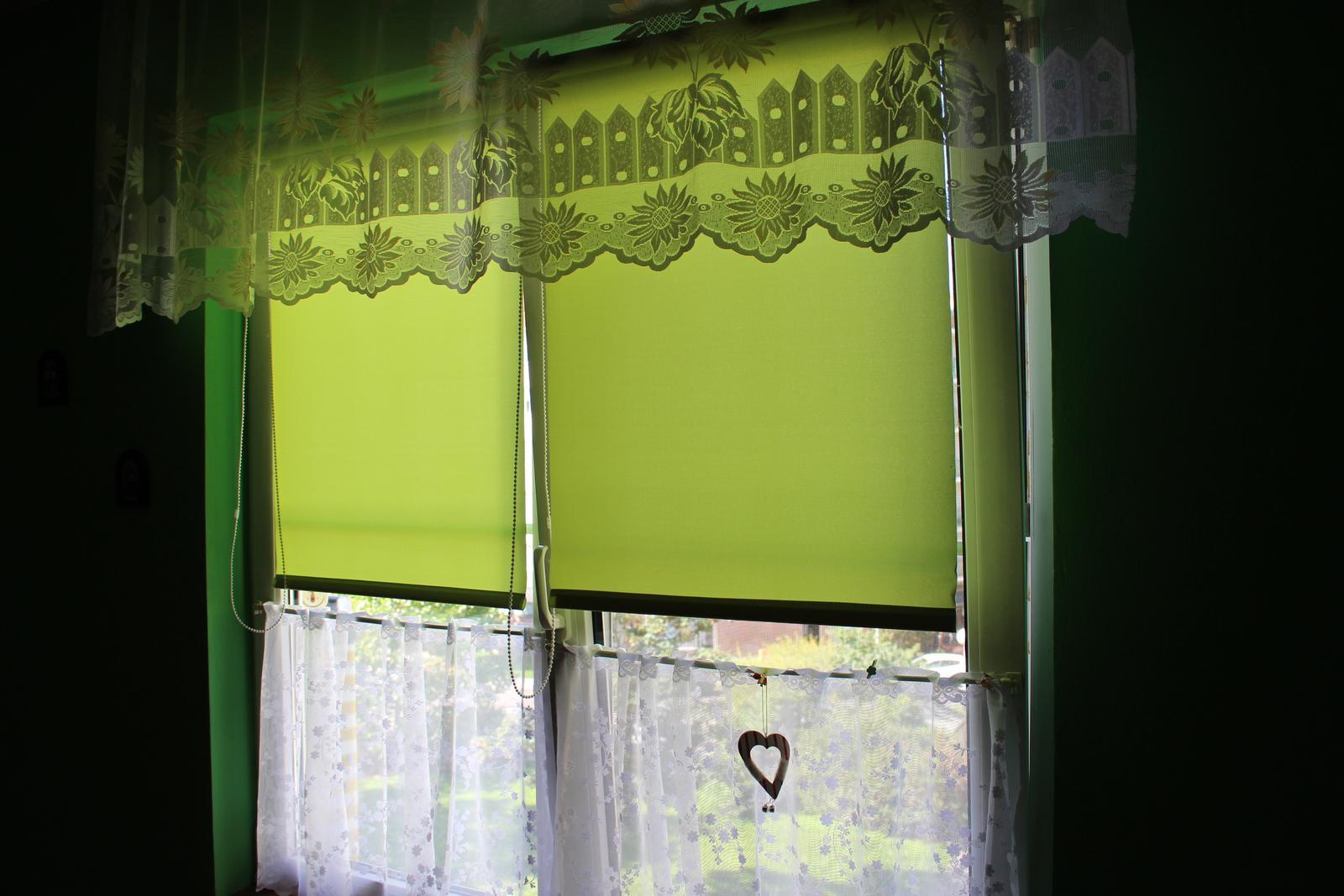 Stínící roleta SENJA - zelená, oranžová, šedá - Obrázek č. 1