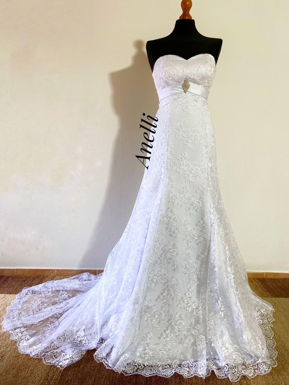 Svadobné šaty 36/40 - IHNEĎ K ODBERU  - Obrázok č. 1