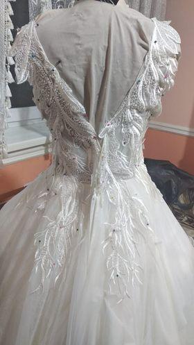 Šaty pre Drahomíru - Šaty v procese šitia
