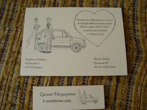 svadobné oznámenia a pozvánka