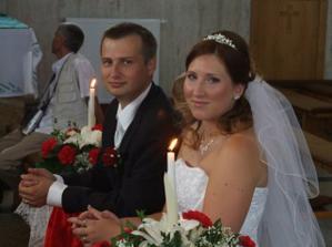 svadobné foto v kostole
