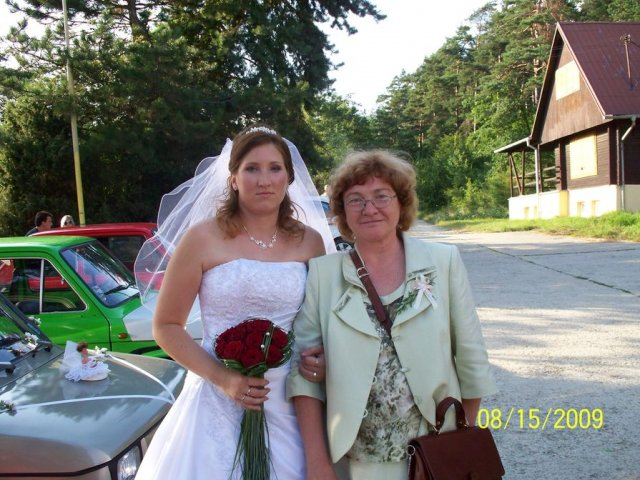 Stanka Nerádová{{_AND_}}Martin Škrátek - foto s mamou