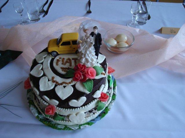 Stanka Nerádová{{_AND_}}Martin Škrátek - hlavná svadobná torta