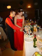 rozkrajovanie svadobnej torty