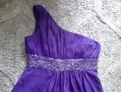Fialové šaty s flitrami 40,