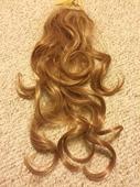 Hnedý príčesok do vlasov, 50cm,