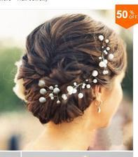 Opět nákup z ALI, nádherné sponečky s perličkami do vlasů.. :)