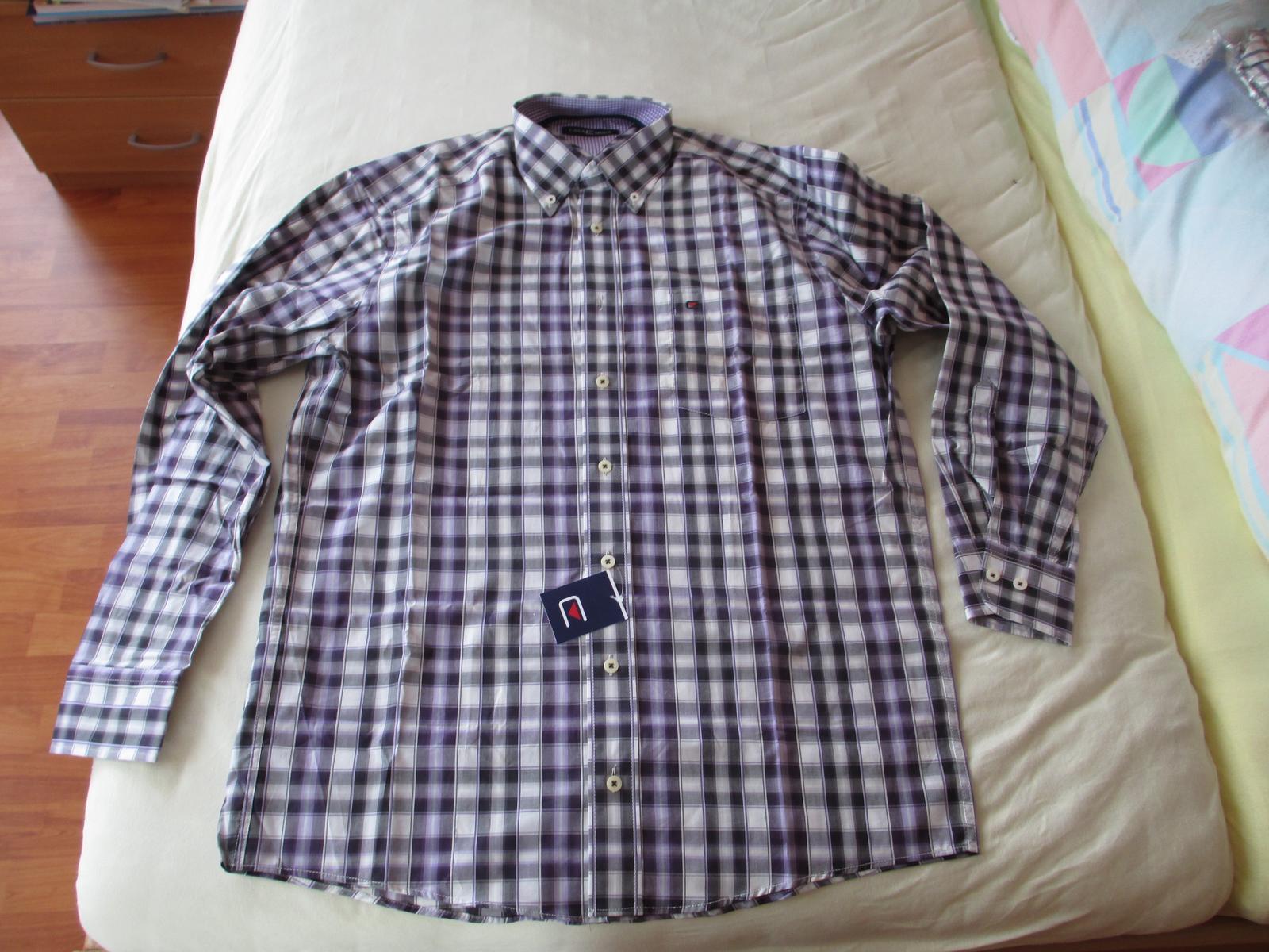 Fialová košile Casa Moda s visačkou - Obrázek č. 1
