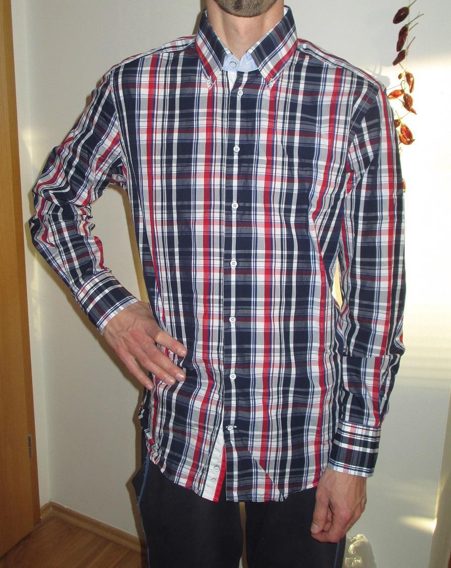 Kostkovaná košile Pierre Cardin - Obrázek č. 1