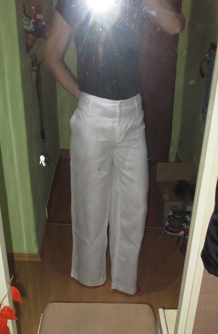 Bílé lněné kalhoty - Obrázek č. 1
