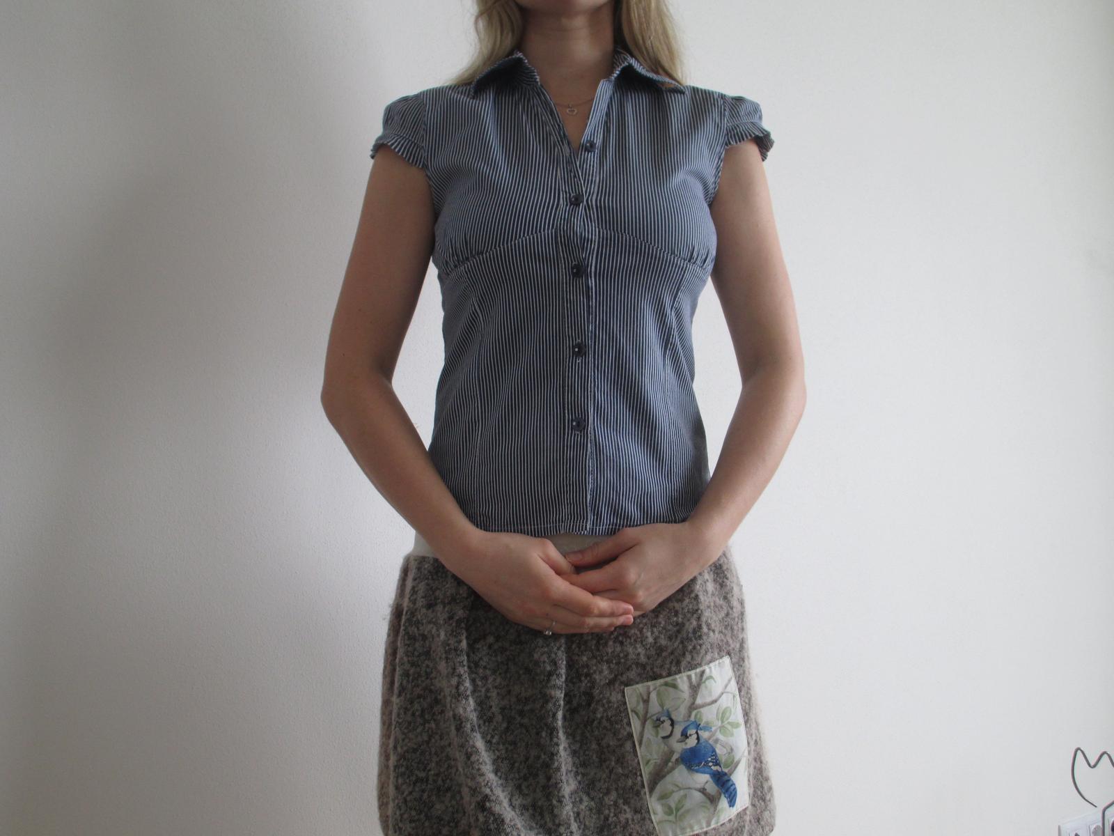 Pruhovaná pevná košile - Obrázek č. 1