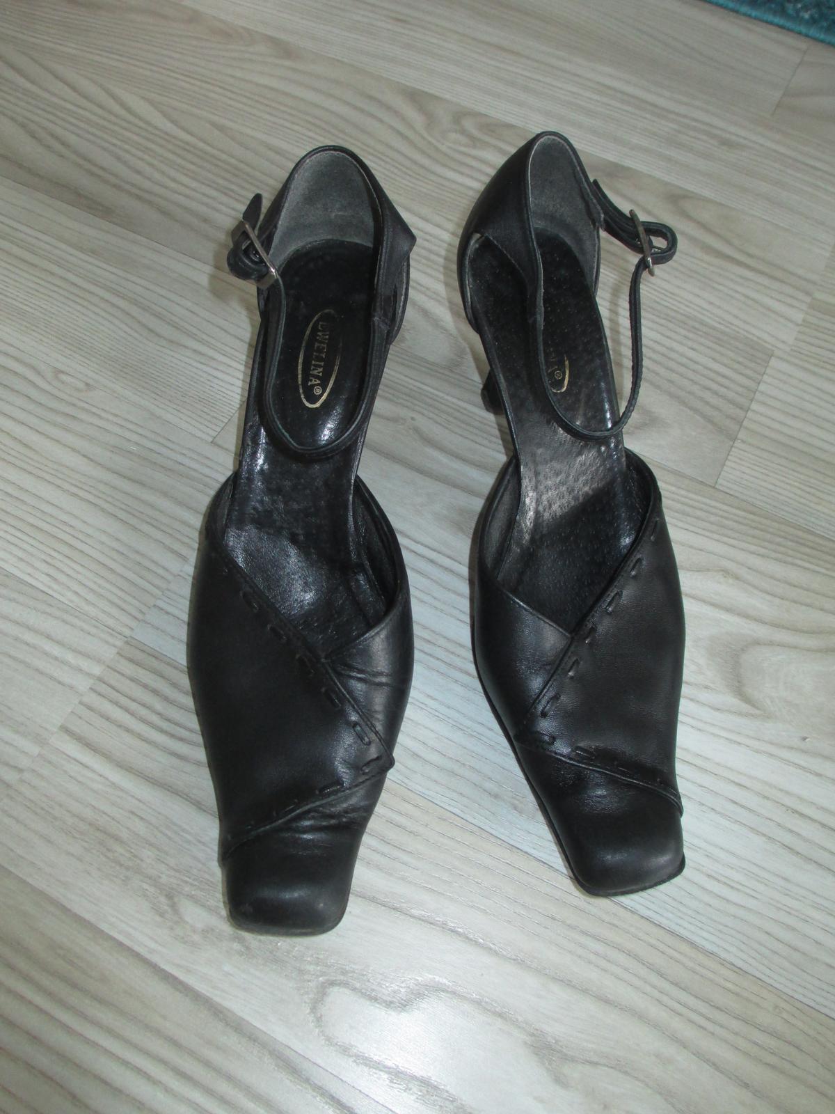 Plesové kožené boty vel 39/40  - Obrázek č. 1