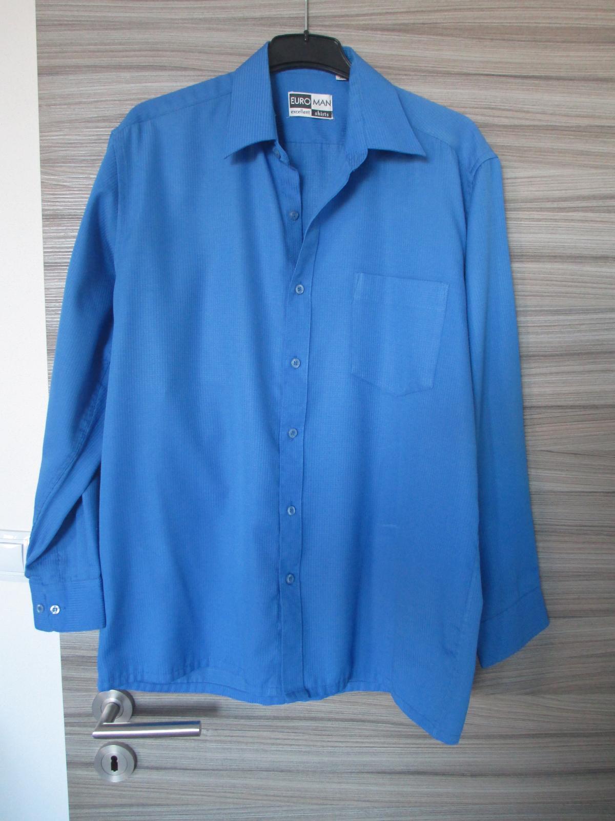 Vzorovaně modrá košile - Obrázek č. 1