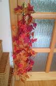 Podzimní organza, girlanda,