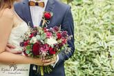 svatební kytice červená