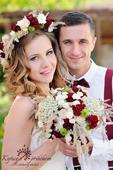 svatební kytice - vínová luční,