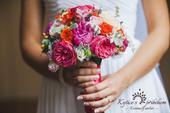 svatební kytice - kombinace 3 typů růží,