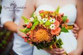 svatební kytice - netradiční,