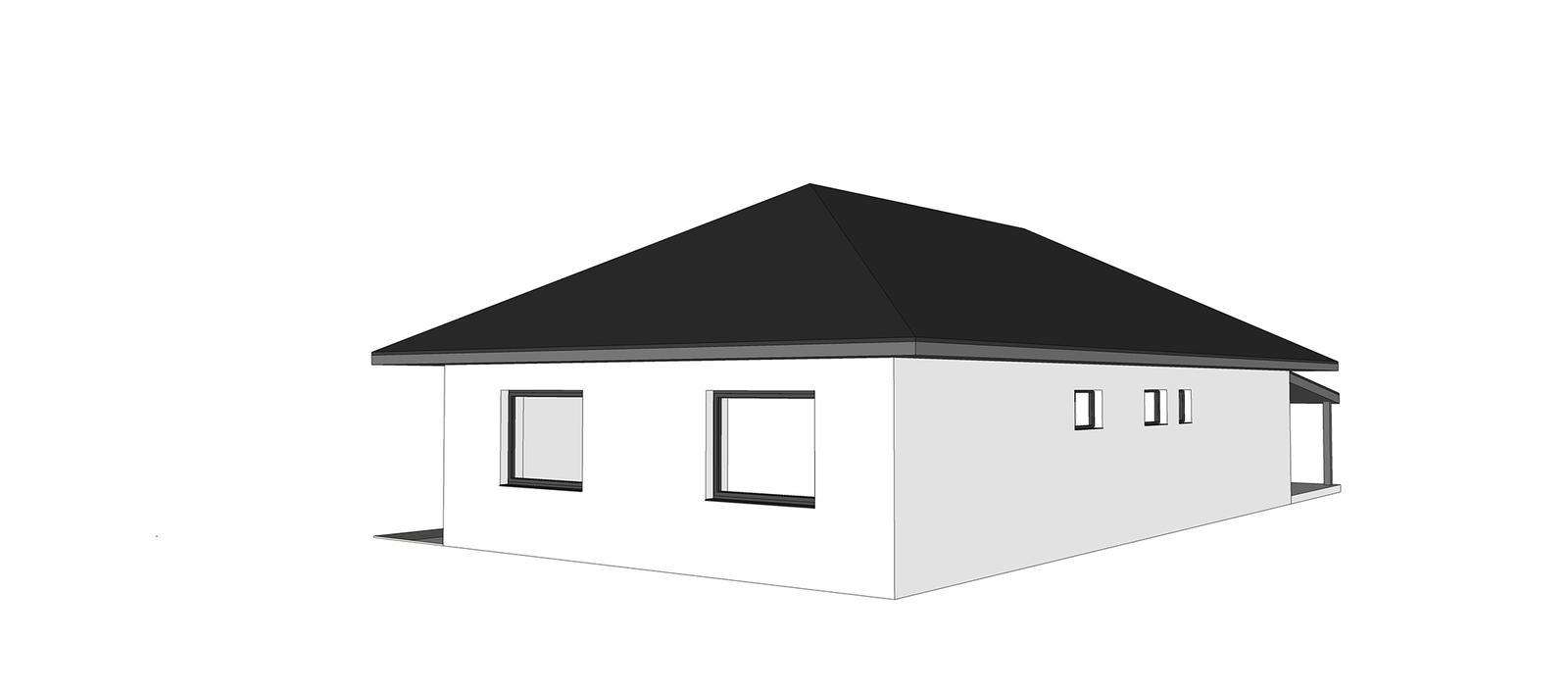 Nový bungalov a výber tvaru strechy + terasa - Obrázok č. 1