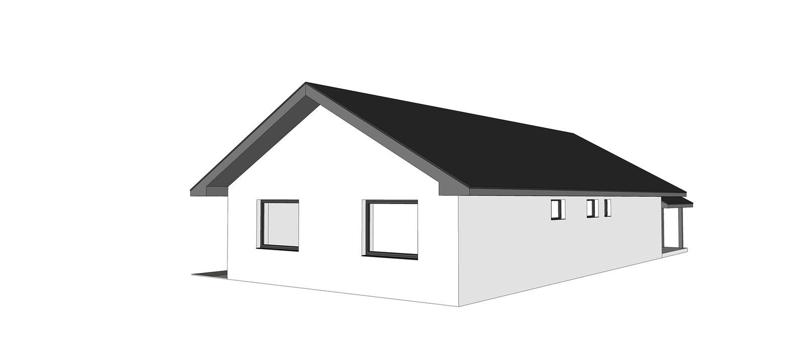 Nový bungalov a výber tvaru strechy + terasa - Obrázok č. 2