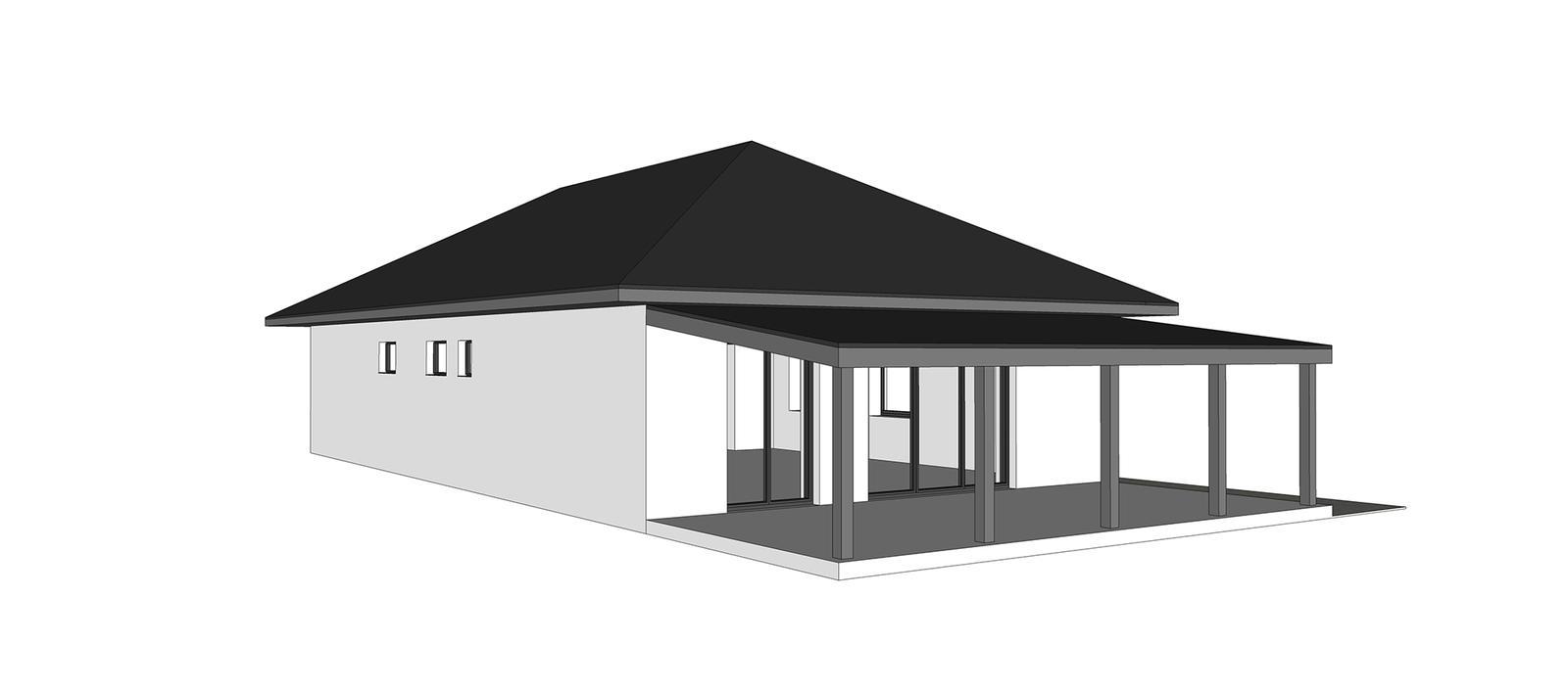 Nový bungalov a výber tvaru strechy + terasa - Obrázok č. 3