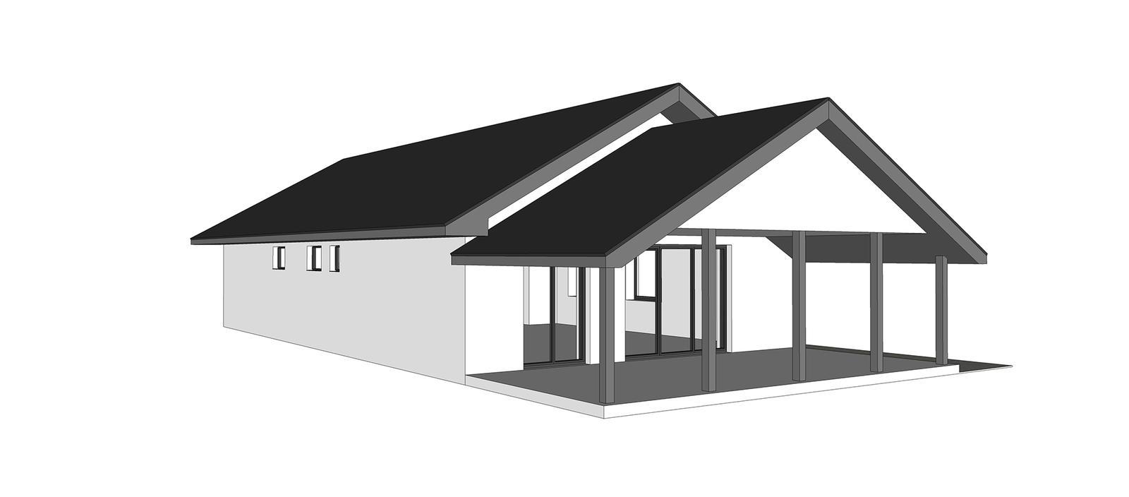 Nový bungalov a výber tvaru strechy + terasa - Obrázok č. 4