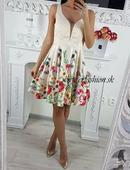 Kvetované elegantné šaty, M