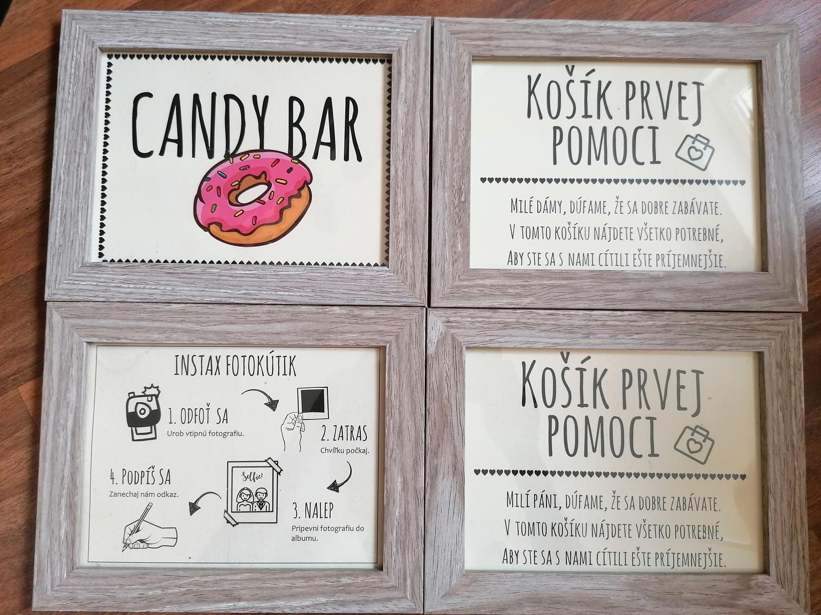 """Označenia """"Kútik"""", """"Candy bar"""", """"Instax"""" - Obrázok č. 1"""