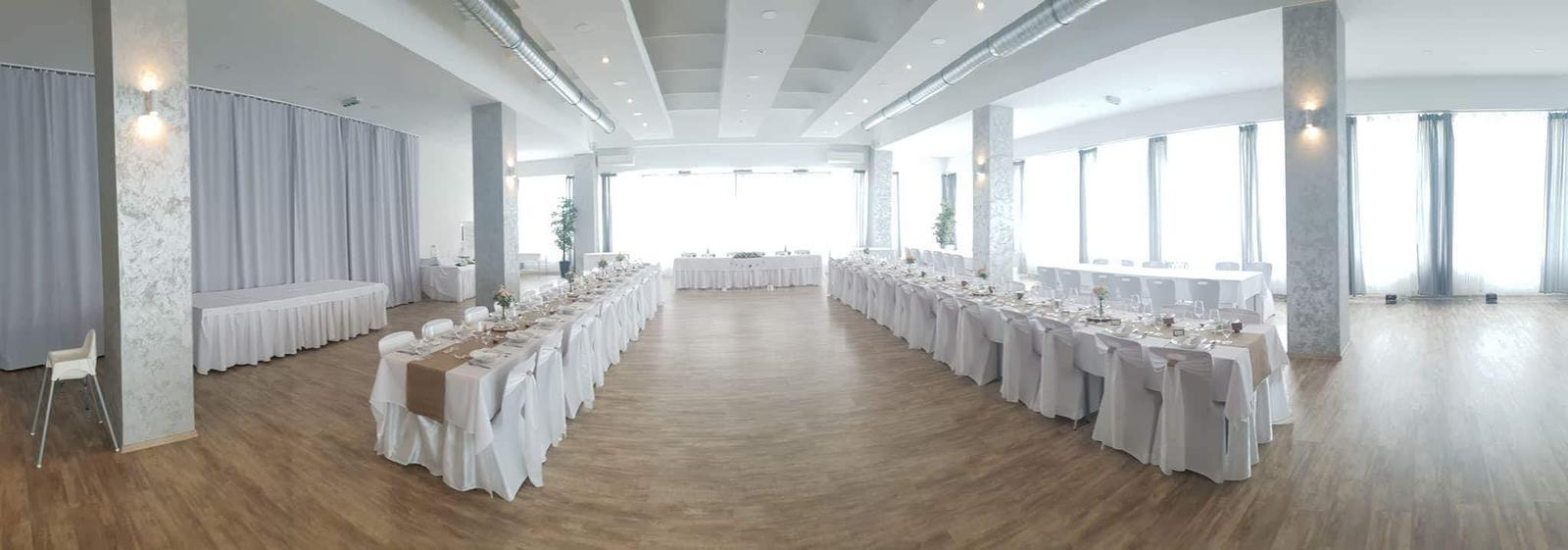 P&M prípravy - Sála na svadobnú hostinu