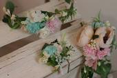 Květinová sada pro nevěstu a 5 -6 druzicek ,