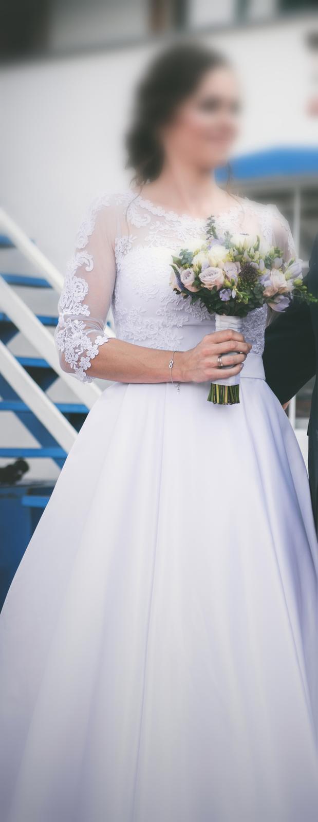 Svatební šaty vel. 38 - Obrázek č. 1