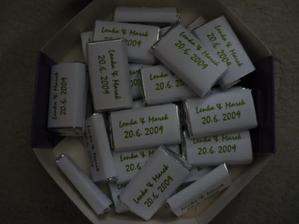 čokoládky pro hosty - samotvorba