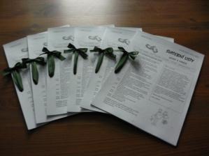 svatební listy - konečně hotové