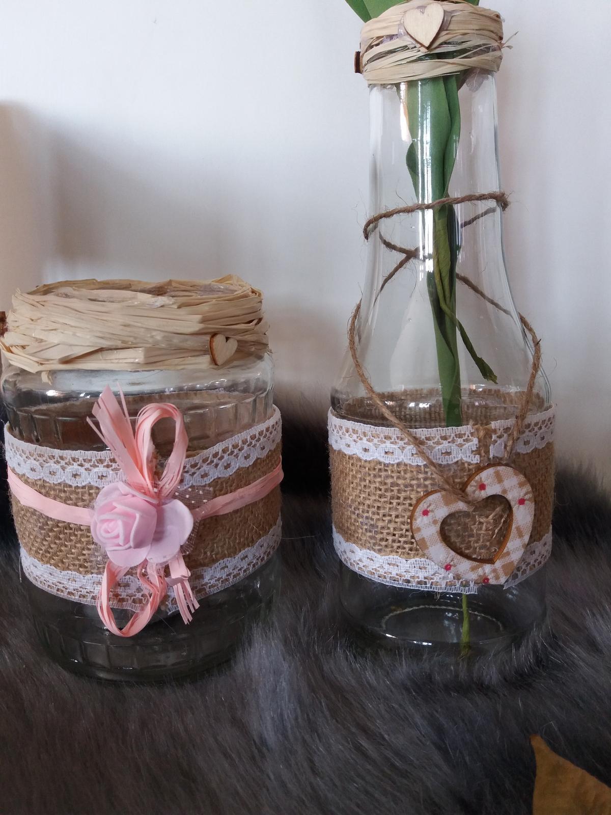sklenice na svíčky/kytky/ - Obrázek č. 1