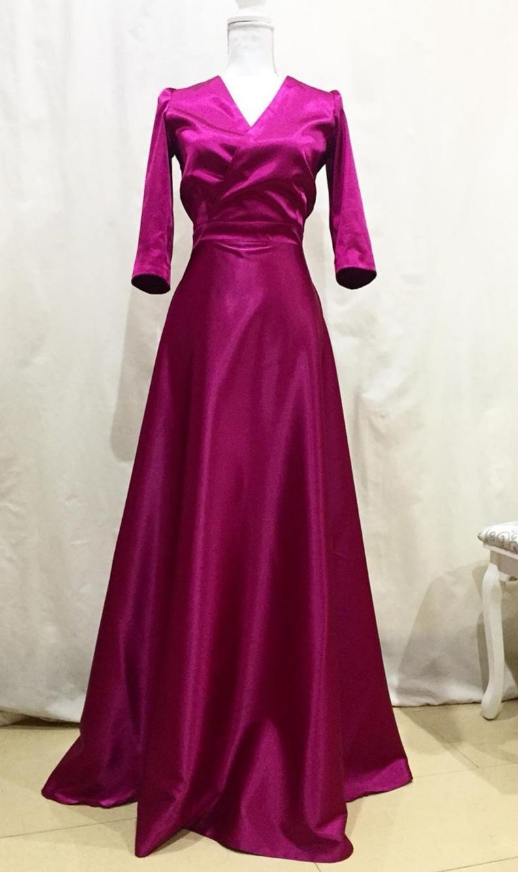 dlhé spoločenské šaty fuchsia - Obrázok č. 1