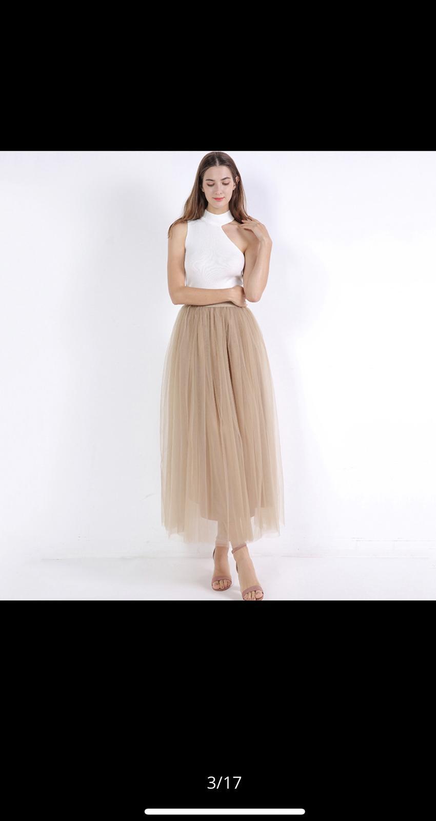 béžová tylová sukně - Obrázek č. 1