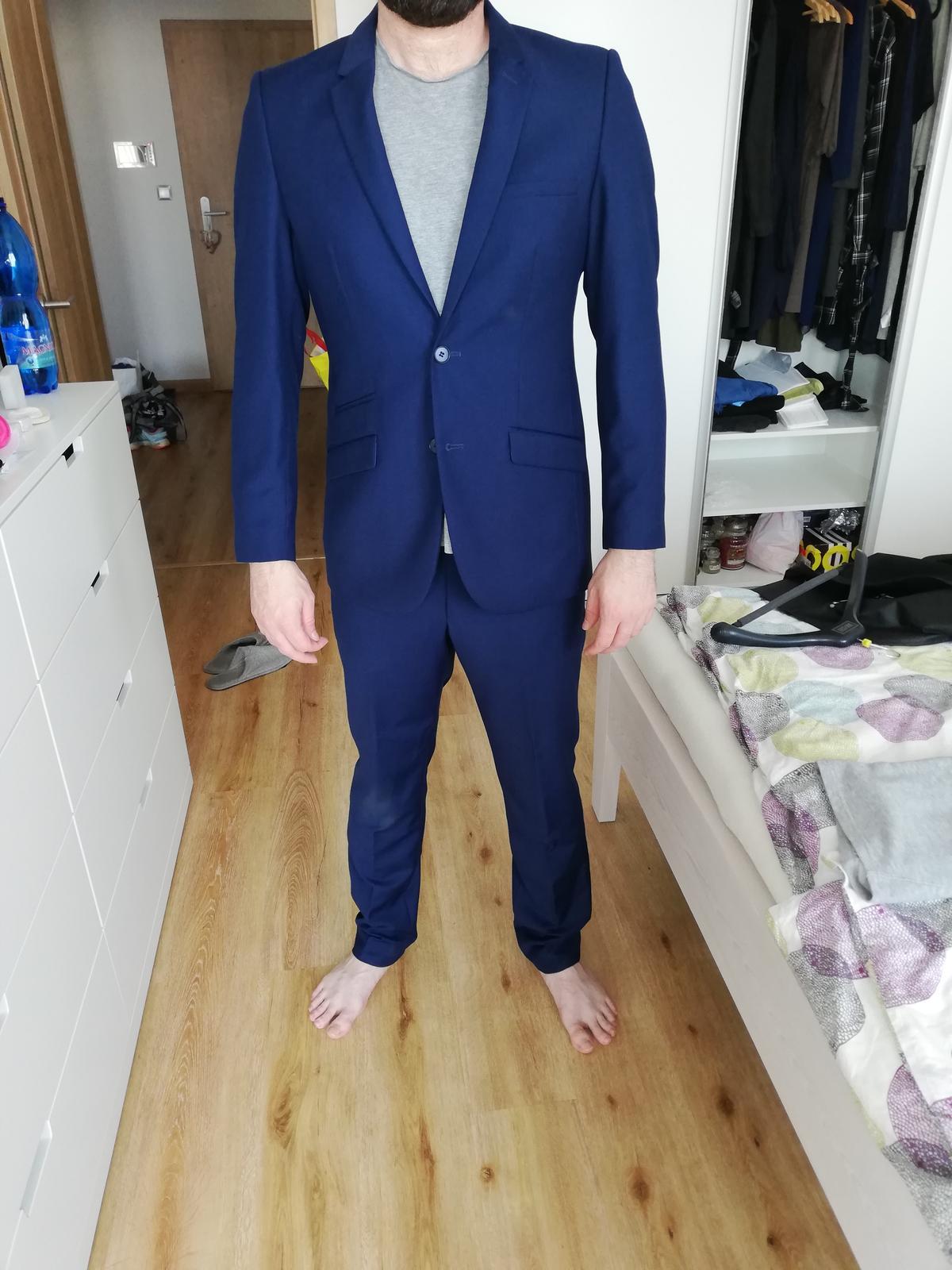 Modrý oblek BANDI - Obrázek č. 1