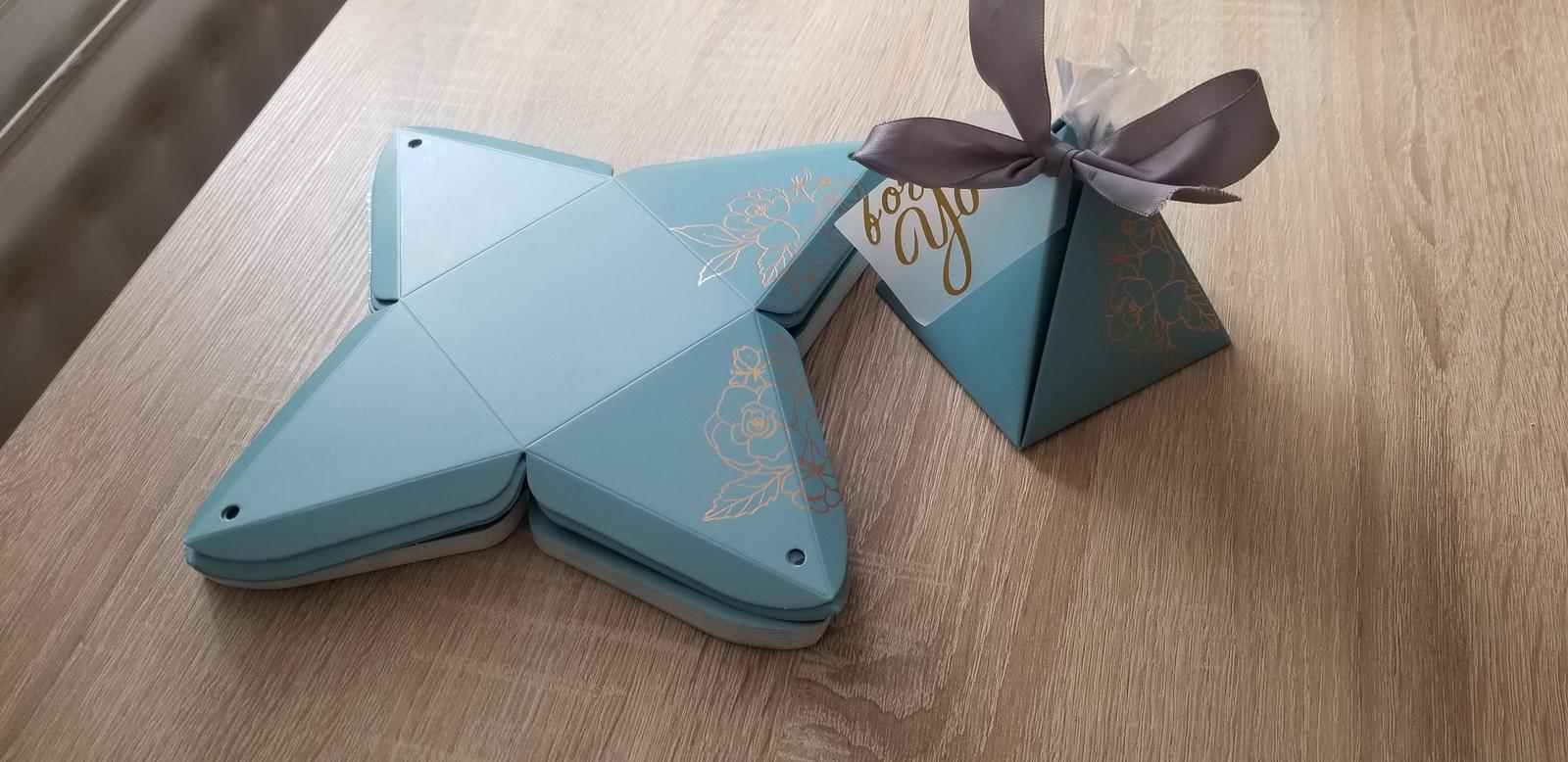 Krabičky na cukríky - darček pre hostí - Obrázok č. 1