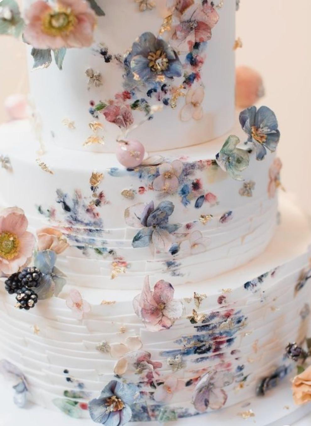 Svatba DustyRose a DustyBlue - Můj vysněný svatební dort!