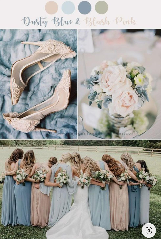 Svatba DustyRose a DustyBlue - Představuju si méně modré a více růžové..:)