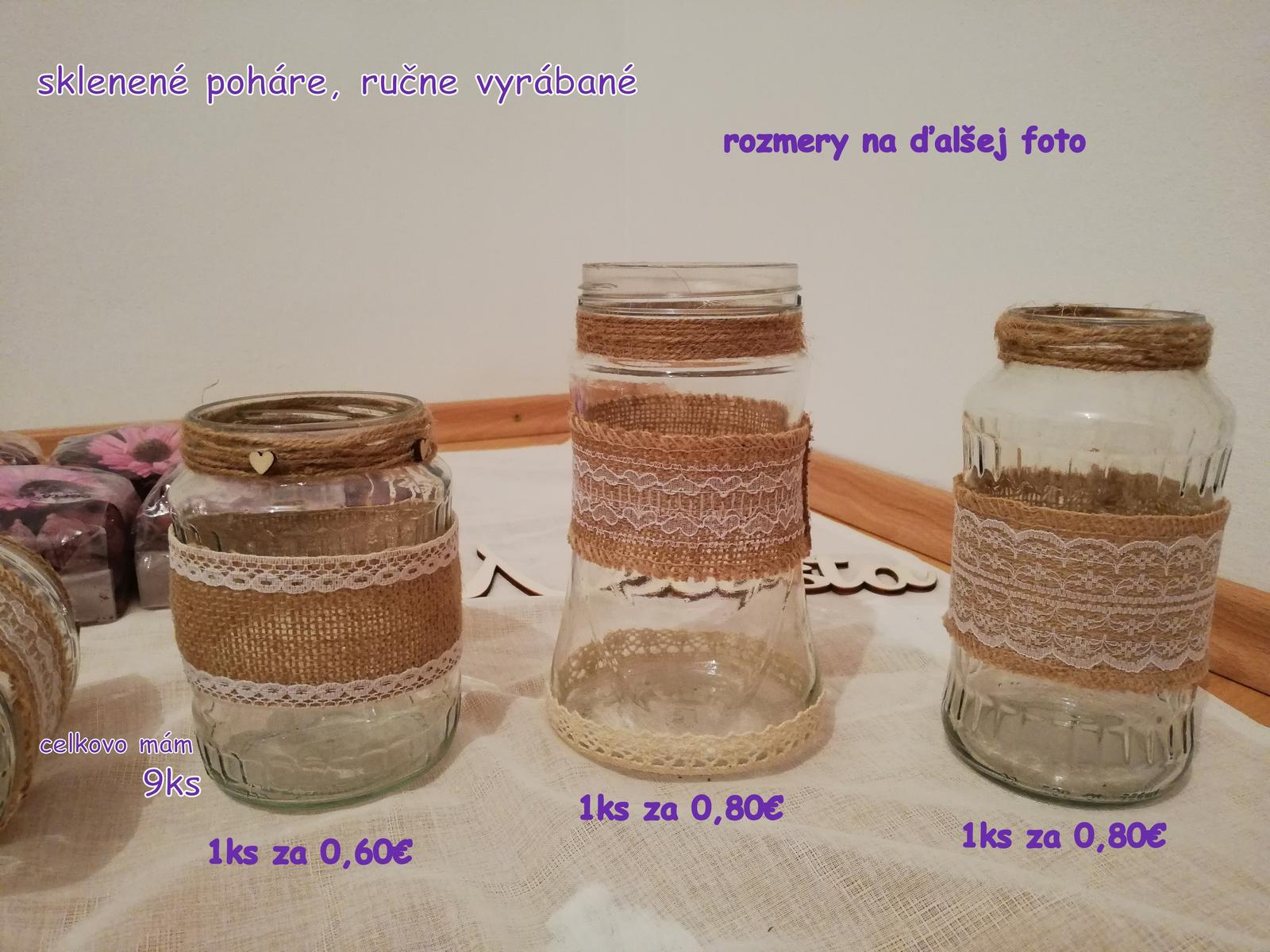 Sklenené vázy alebo lampáše s jutou - Obrázok č. 2