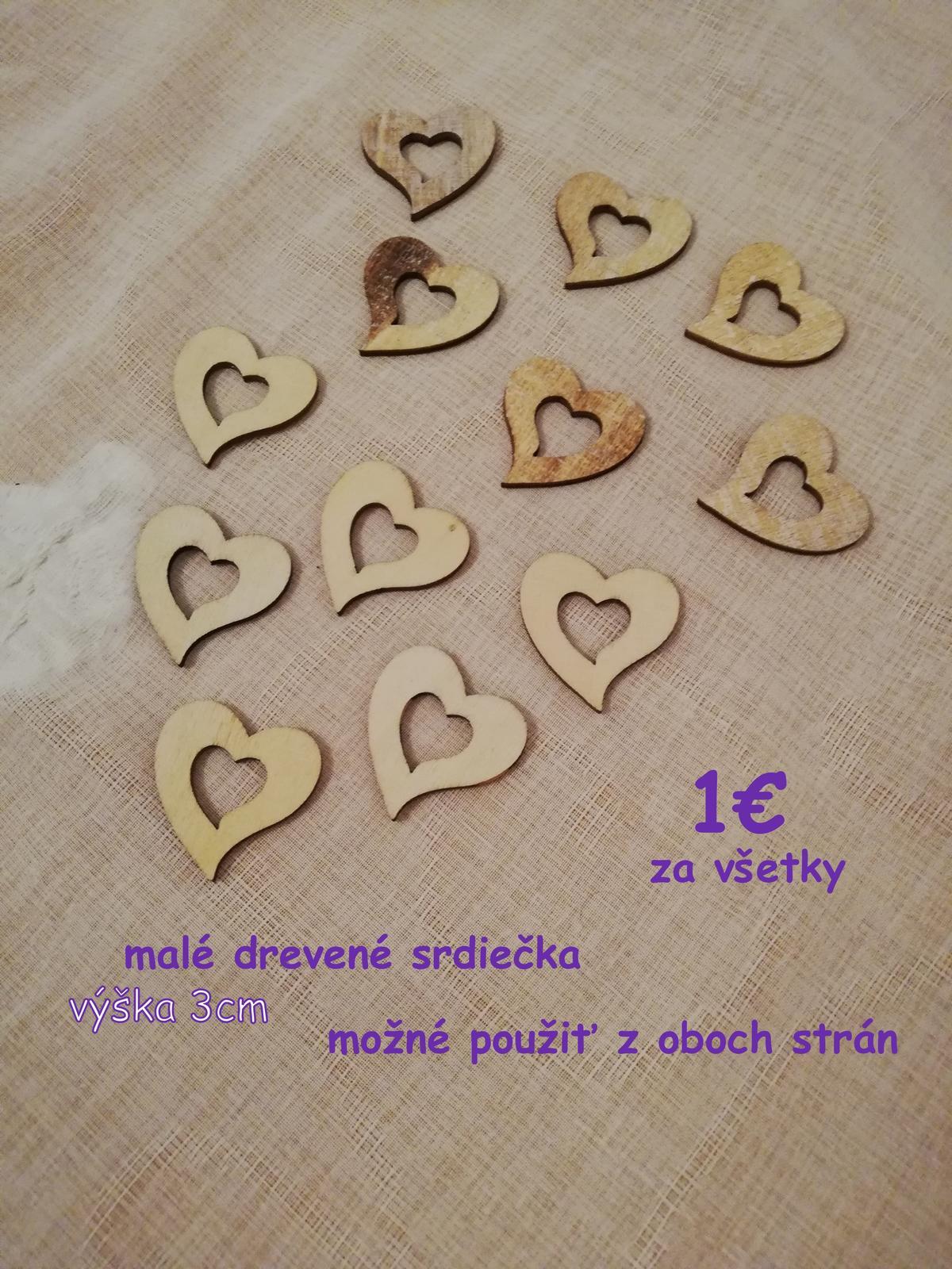 drevené srdiečka, tabuľkové srdce, papierové srdiečka - Obrázok č. 1