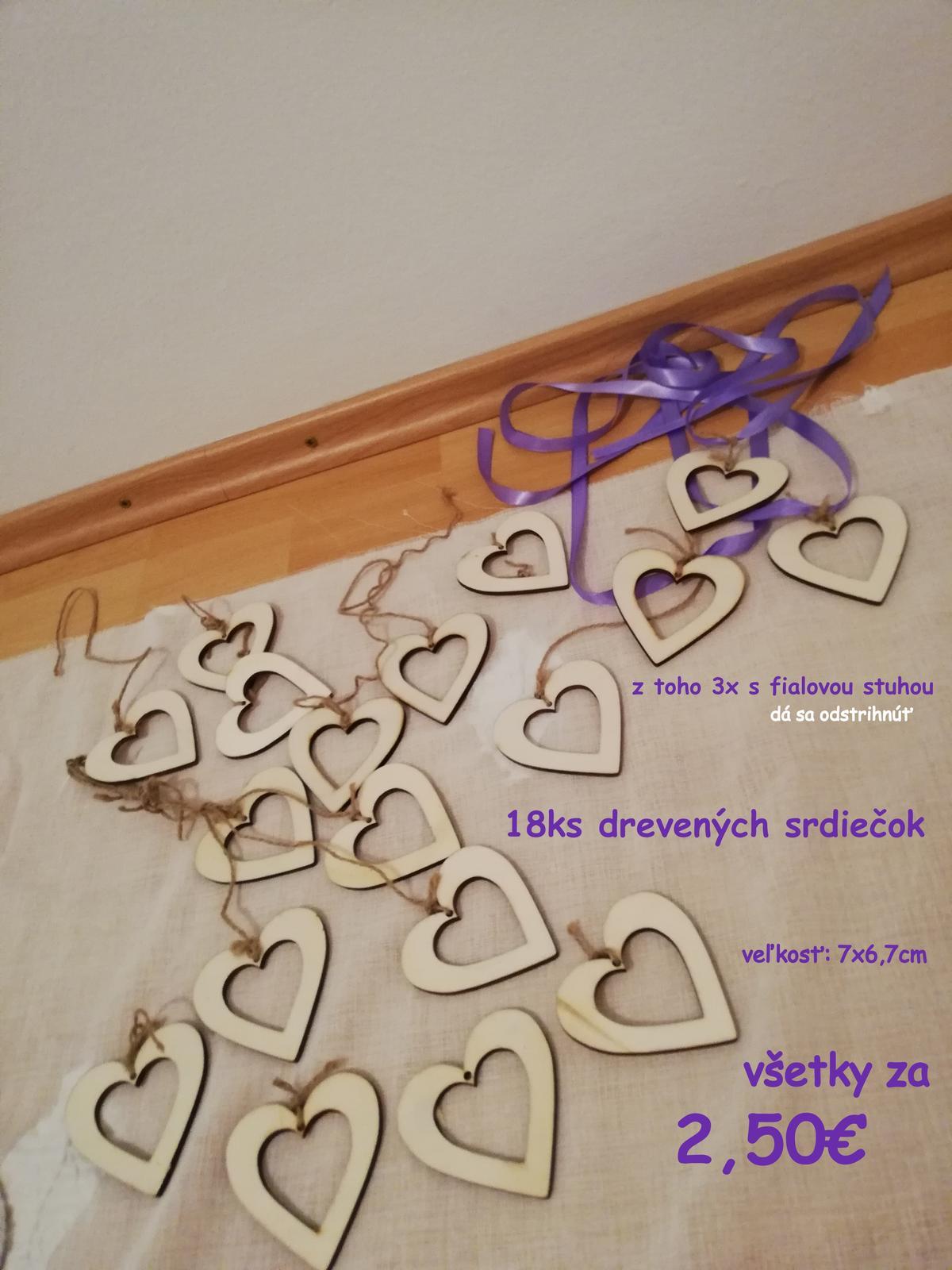 drevené srdiečka, tabuľkové srdce, papierové srdiečka - Obrázok č. 2