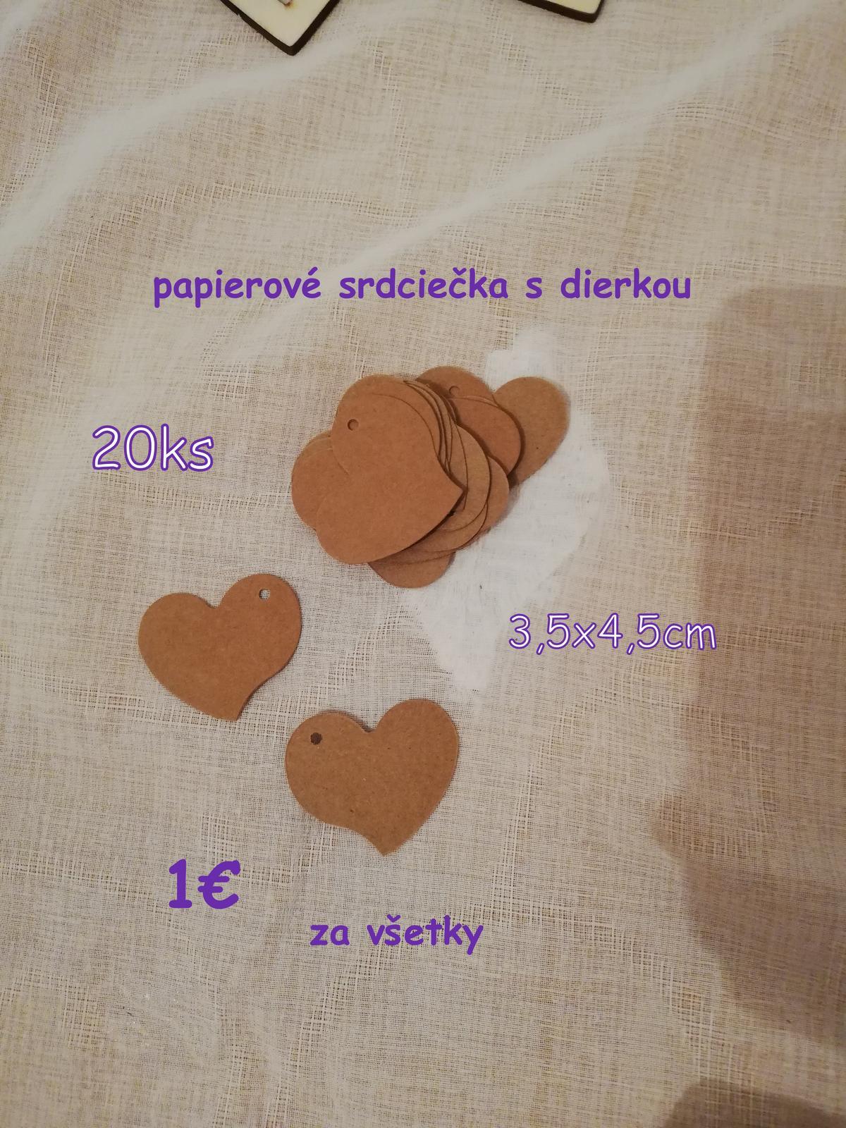 drevené srdiečka, tabuľkové srdce, papierové srdiečka - Obrázok č. 4