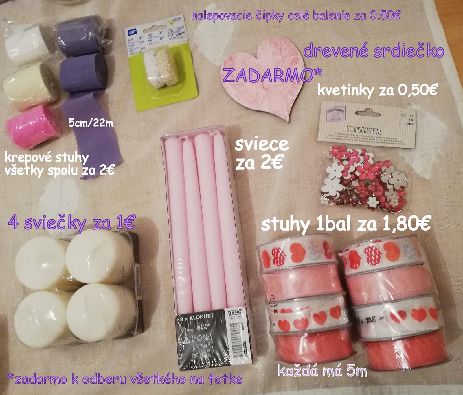 Stuhy, sviečky, kamienky - fialová, ružová, biela, ivory - Obrázok č. 1