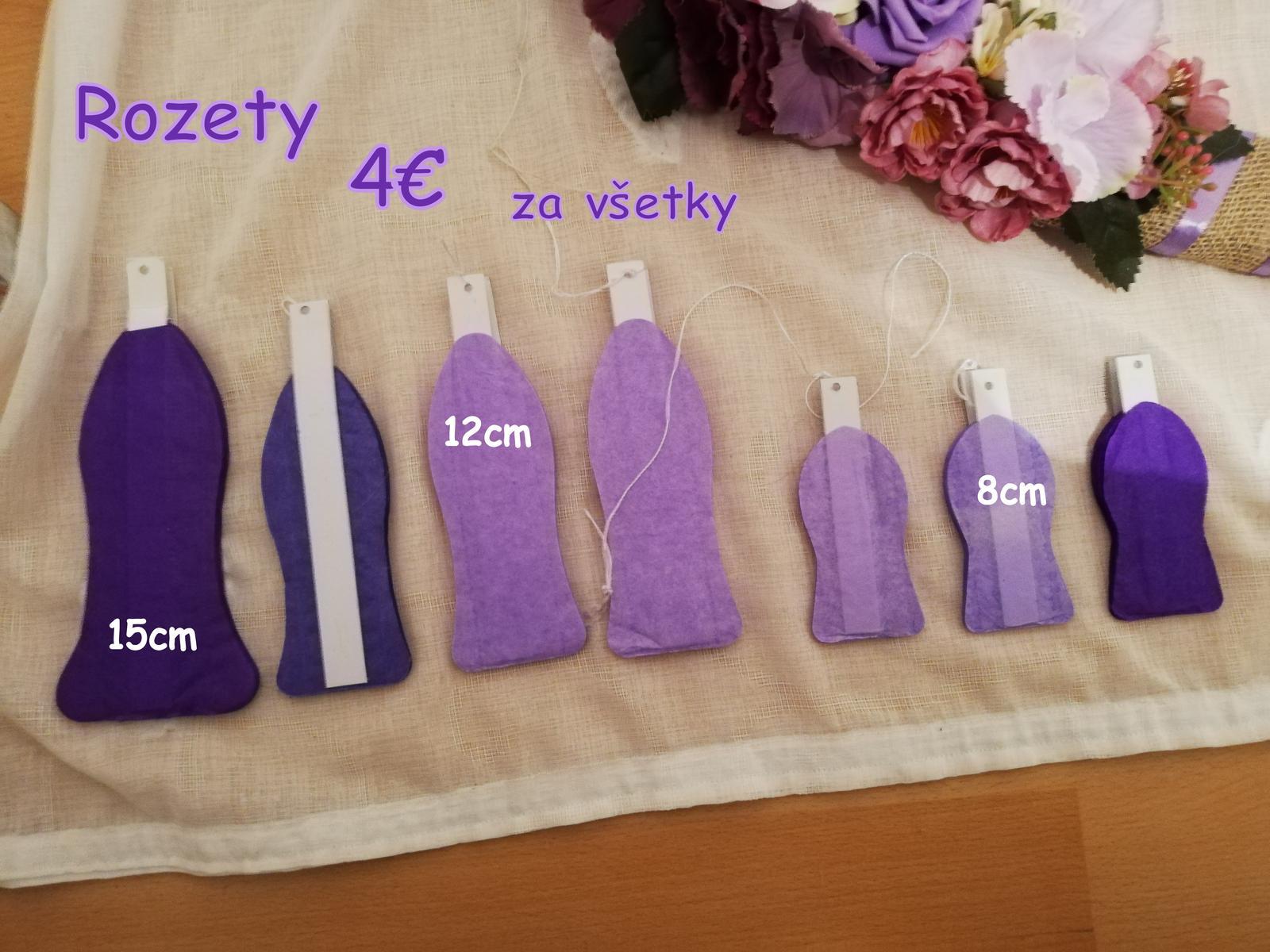 Rozety - tri rôzne fialové odtiene - Obrázok č. 1