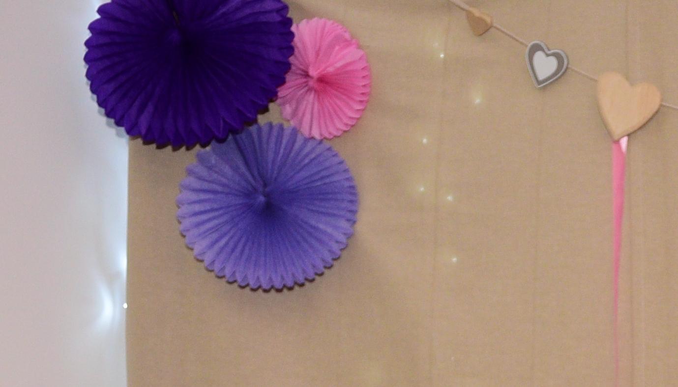 Rozety - tri rôzne fialové odtiene - Obrázok č. 2
