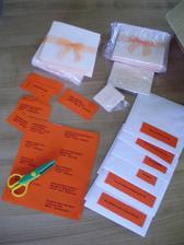 příprava na výrobu obálek na oznamko